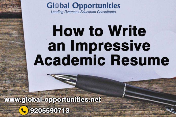 How to Write an Impressive Academic Resume