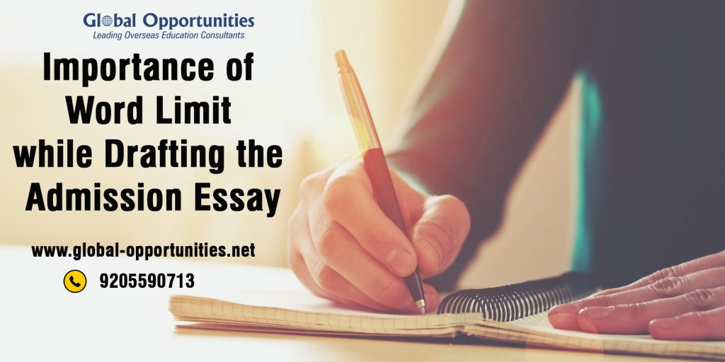 Importance of Word Limit while Drafting the Admission Essay