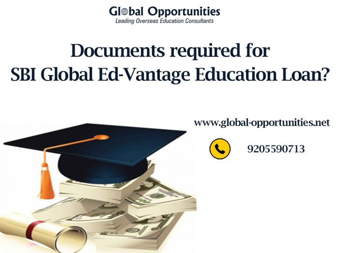 Documents required for SBI Global Ed-Vantage Education Loan
