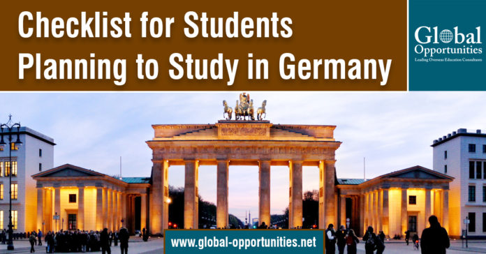 Checklist for Students Planning to Study in Germany