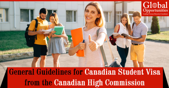 Guidelines for Canadian Student Visa