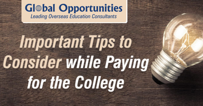 Important Tips to Consider While Paying for the College