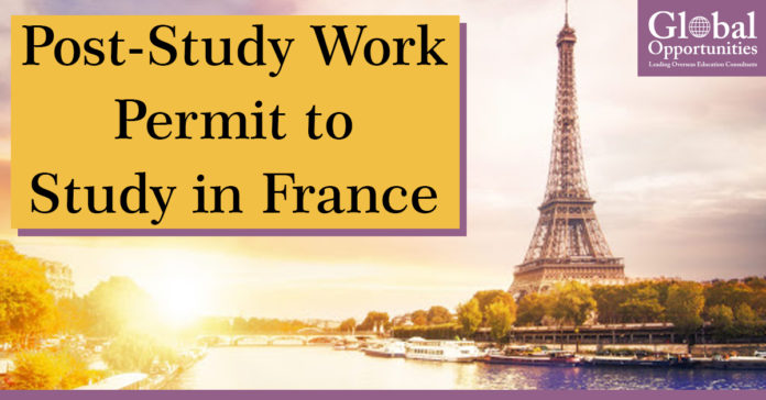Post Study Work Permit to Study in France