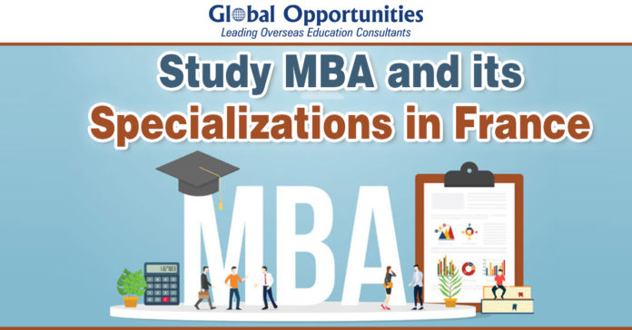 Study MBA and its specializations in France