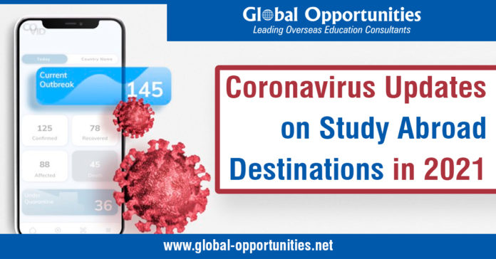 Coronavirus Updates on Study Abroad Destinations in 2021