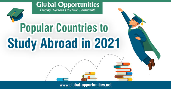 Popular Countries to Study Abroad in 2021