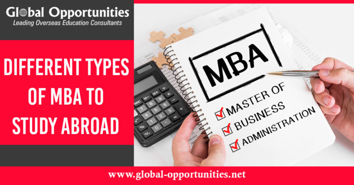Different Types of MBA to Study Abroad
