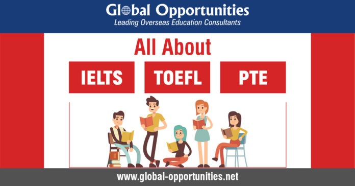All About IELTS, TOEFL, and PTE