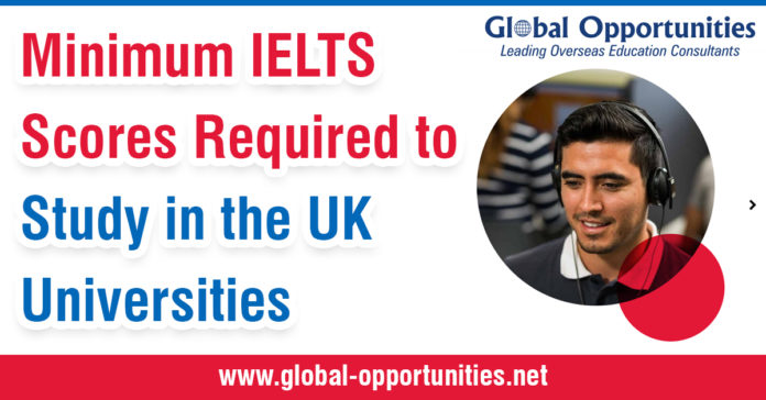 Minimum IELTS Scores Required to Study in the UK Universities