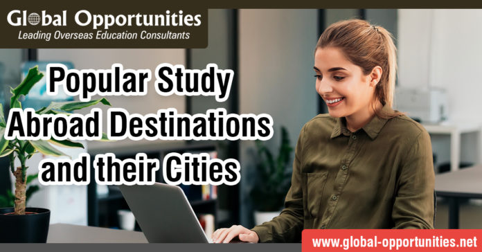 Popular Study Abroad Destinations and their Cities