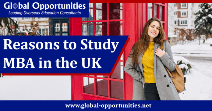 Reasons to Study MBA in the UK