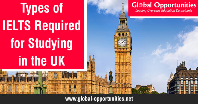 Types of IELTS Required for Studying in the UK